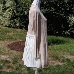 Beautiful knit & chiffon open cardigan